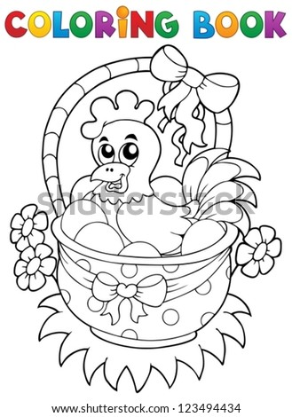 coloring book with easter theme