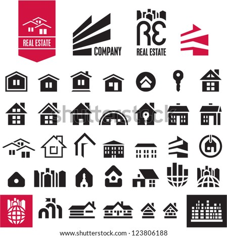 house icons real estate