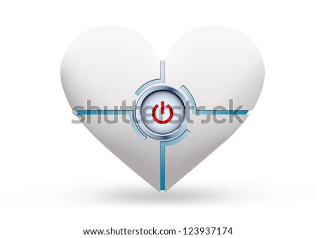 heart as a device with a button