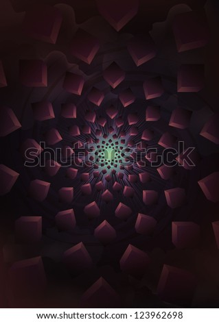 vector illustration of 3d cube