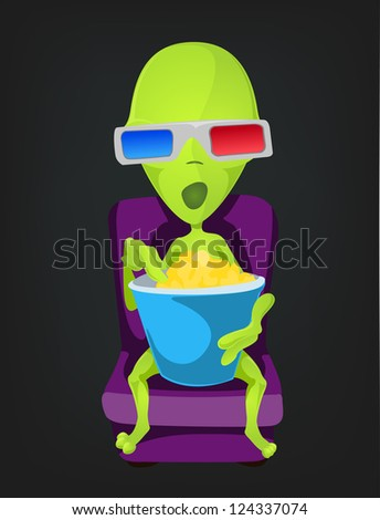 cartoon character funny alien