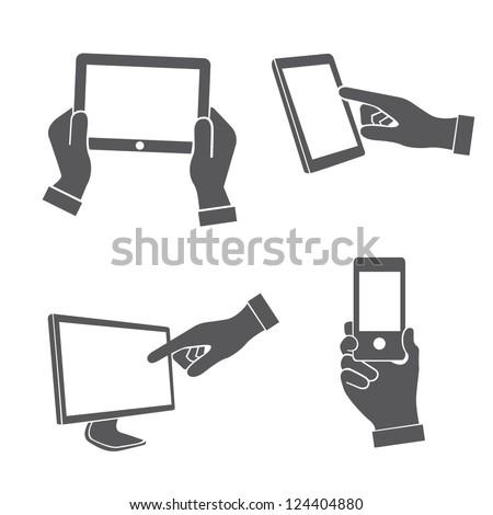set of hands holding smart