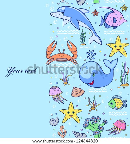 vector illustration of sea