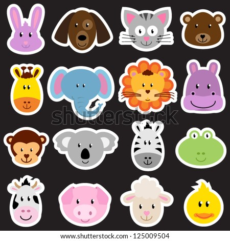 vector zoo animal sticker