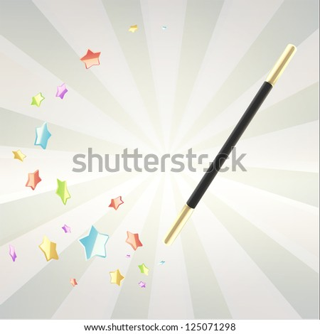 magic wand with colorful glossy