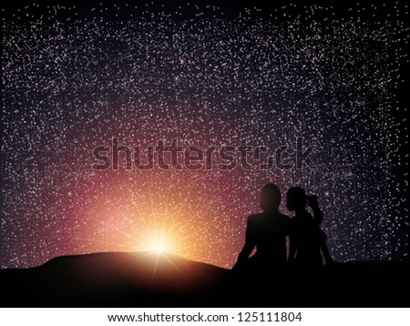couple watching the sunrise