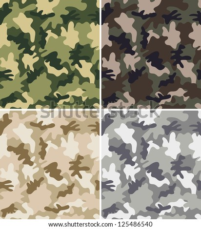 different camouflage seamless