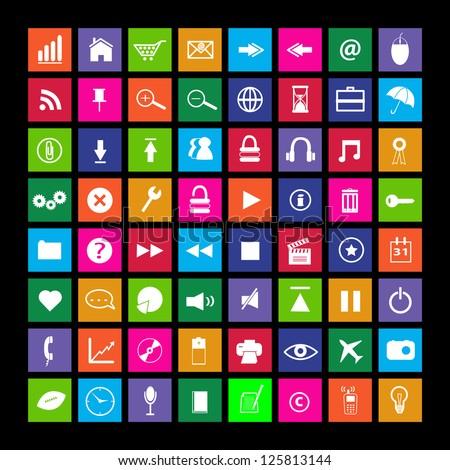 metro icon set