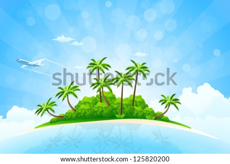 tropical island background with
