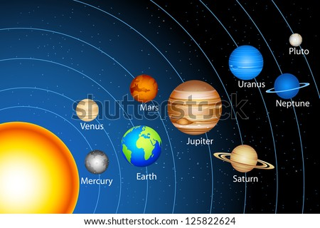 illustration of solar system
