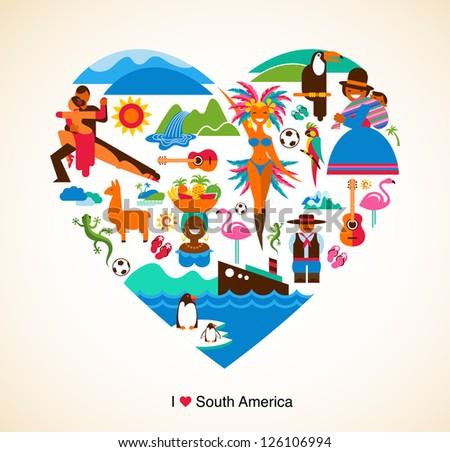 south america love   concept