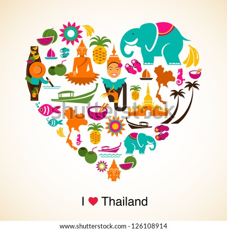 thailand love   heart with thai