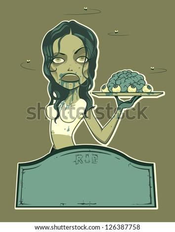 zombie waitress