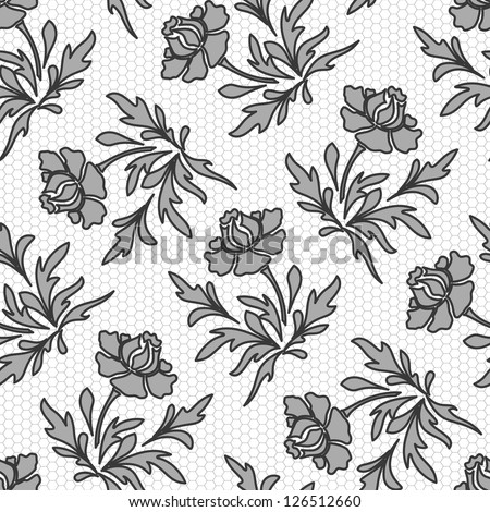 seamless floral lace texture