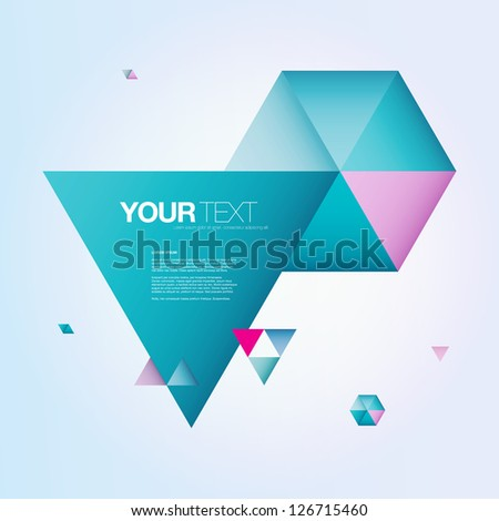 abstract color triangles text