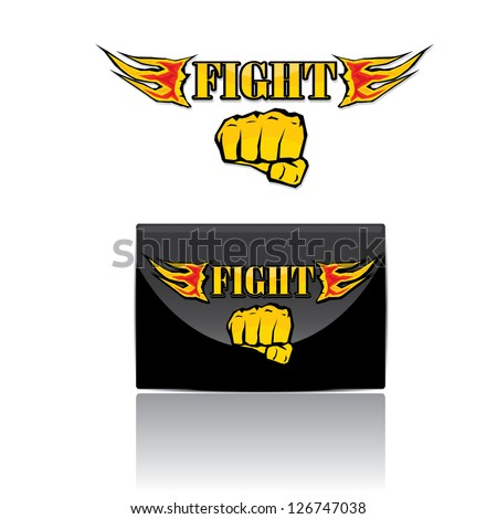 circle label with wings vector