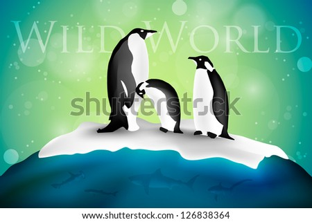 antarctica with penguins and