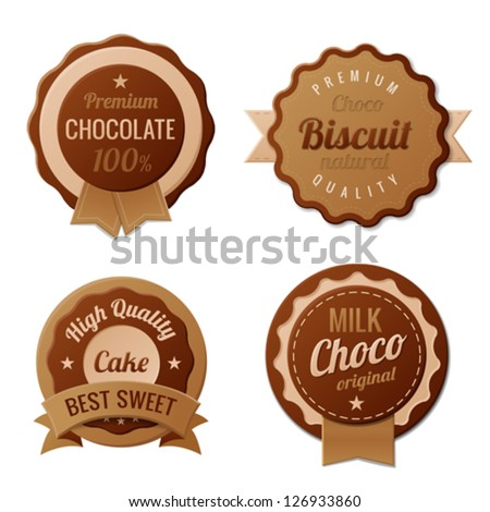 chocolate vintage labels such a