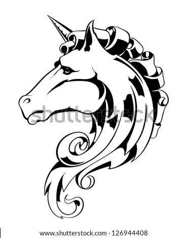 horse head eps 8 vector