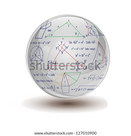 crystal ball with mathematical