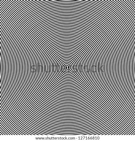 black and white hypnotic vector
