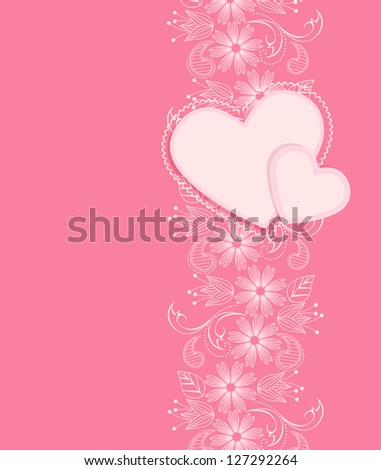 vector decoration heart on a