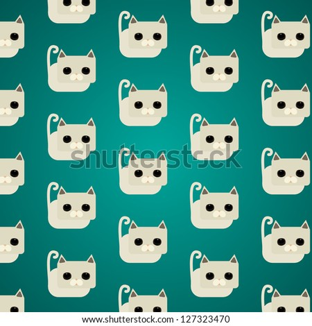 cat pattern vector background