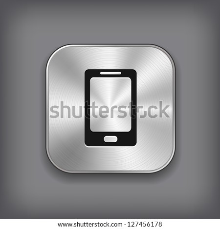 phone icon   vector metal app