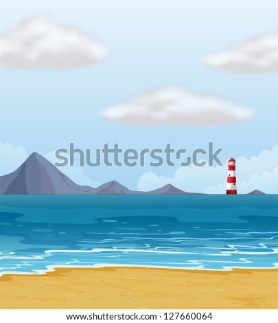 illustration of a light house