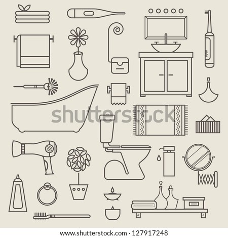 vector set of stylised various