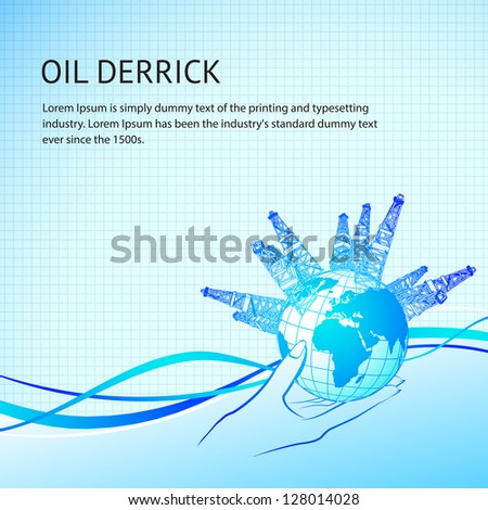 oil derricks around the planet