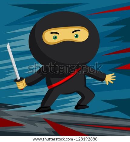 sword wielding ninja ready for
