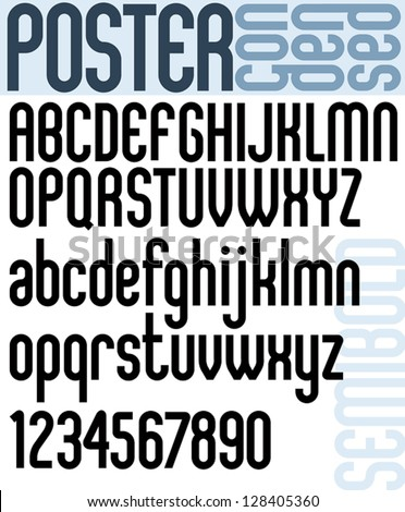 poster classic style font with
