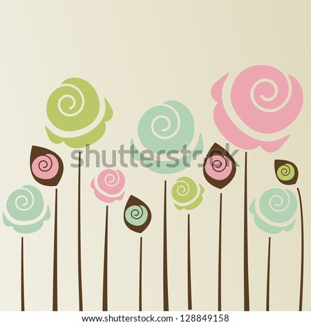 cute vintage flower background