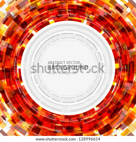 abstract technology circle