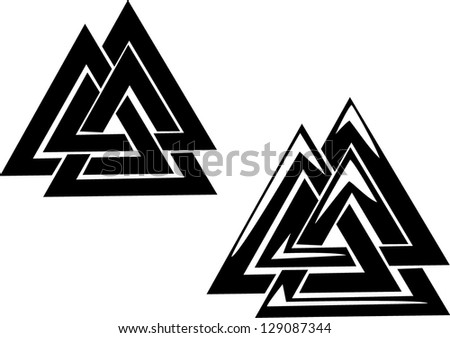valknut   three interlocked
