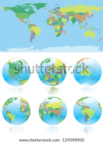 all nations  of the world map