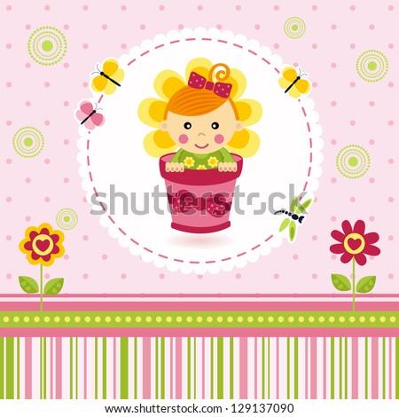 baby girl flower