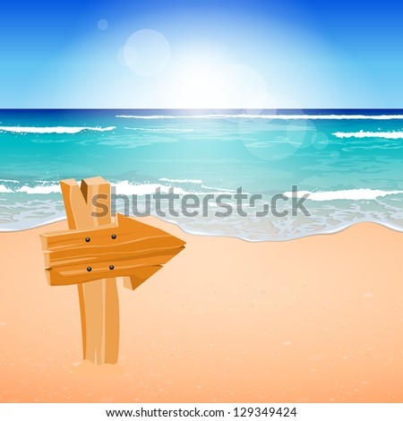 vector illustration of a wooden