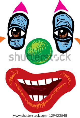 vector illustration of a clown
