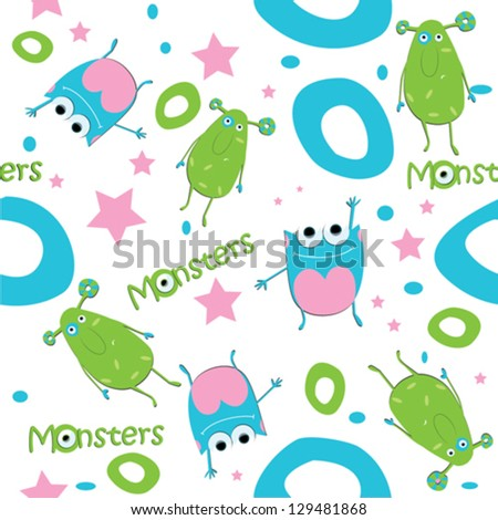 vector background monsters ufo