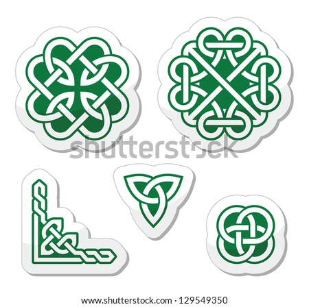celtic green knots patterns