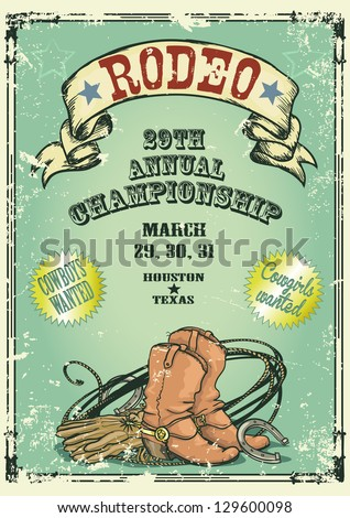 retro style rodeo championship