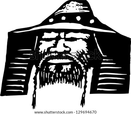 vector illustration of genghis
