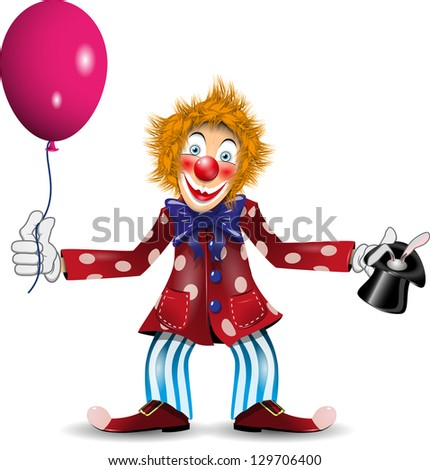 illustration cheerful clown