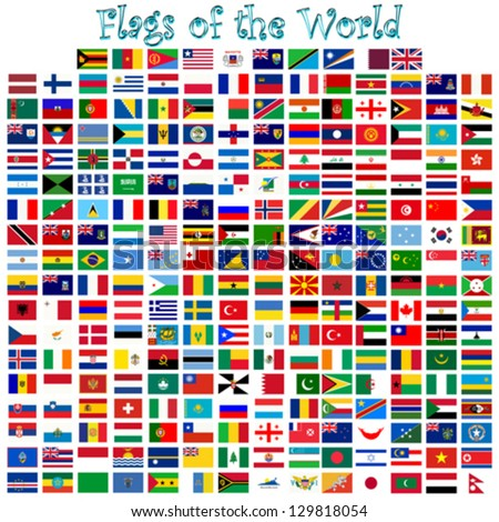 flags of the world against