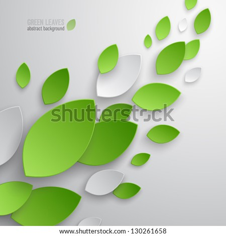 green leaves abstract