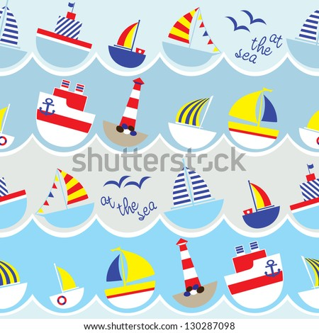 seamless kids nautical pattern
