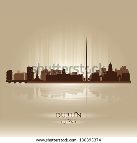 dublin ireland skyline city