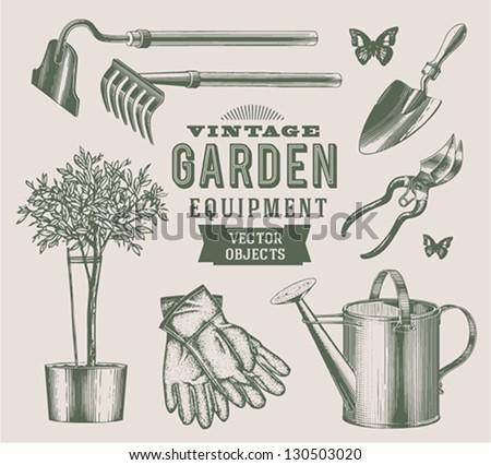 vintage garden objects